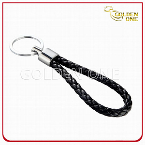 Special Design Promotion Woven Rope Leather Key Ring