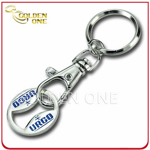 Personalized Nickel Plated Metal Trolley Coin Key Holder