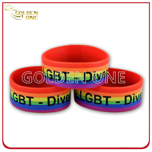 Blazing with Colour Silk Screen Printed Rubber Wristband