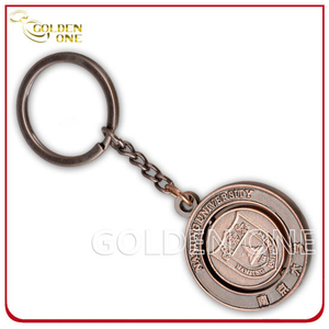 Custom Embossed Rotating Antique Copper Metal Key Holder
