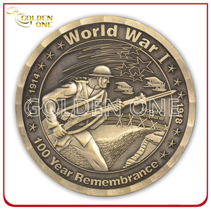 Factory High Quality Custom Chile Us Military Cop Brass Army Antique Metal Coin