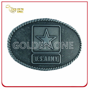 High Quality Army Antique Metal Belt Buckle