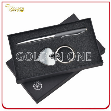 High Quality Keychain and Metal Pen Promotional Gift Set