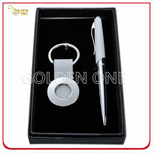 High Quality Meatal Key Ring and Ball Pen Gift Set