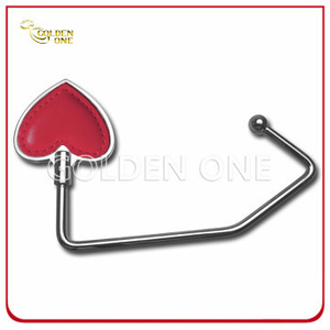 Nickel Plated Heart Design Metal Bag Hook Gift for Lady