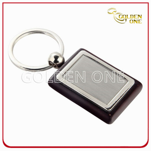 High Quality Wooden Key Ring with Metal