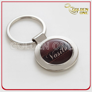 Custom Nickle Plated Printing & Epoxy Metal Keyring