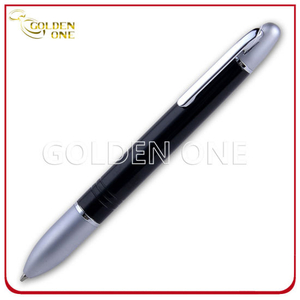 Advertising Promotional Click Ball Pen with Rubber Handle