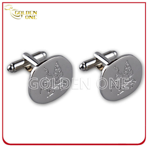 Factory Price Customized Debossed Logo Metal Cuff Link