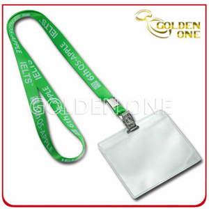 Personalised Printed Polyester Neck Strap with ID Card Holder
