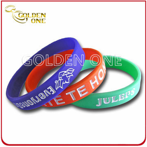 Professional Fast Delivery Cheap Concave Logo Silicone Wristband